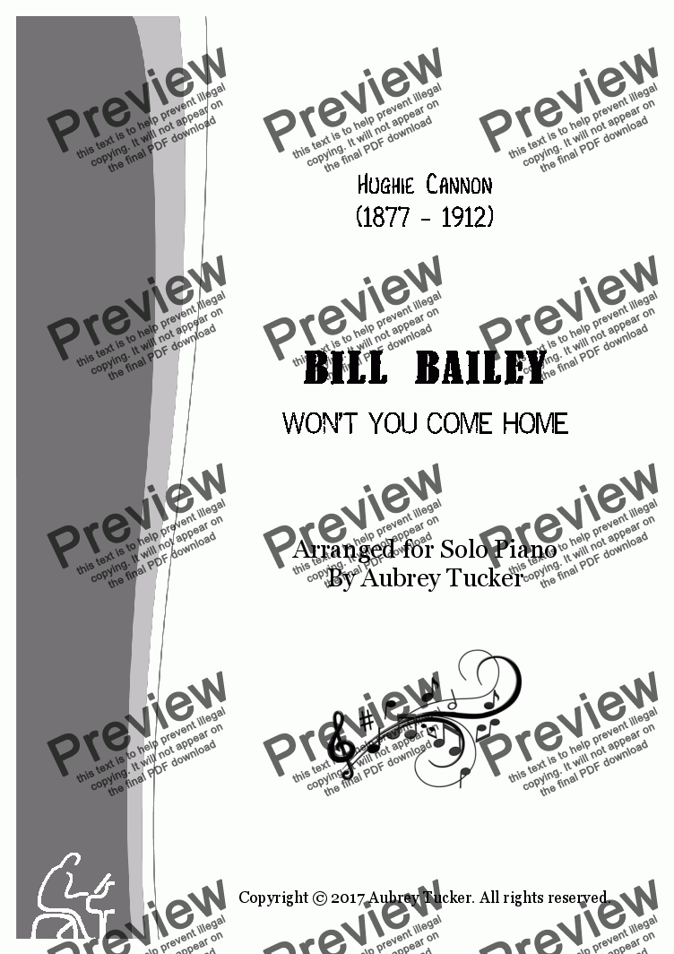 page one of Bill Bailey (Won't You Come Home)ASALTTEXT