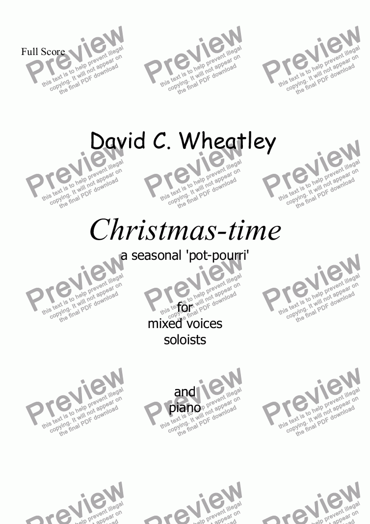 page one of Christmas-time for mixed voices and piano by David Wheatley