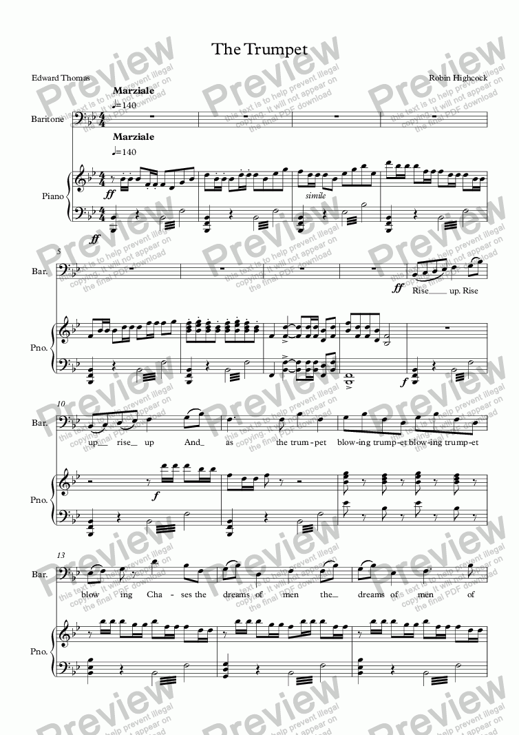 page one of The Trumpet