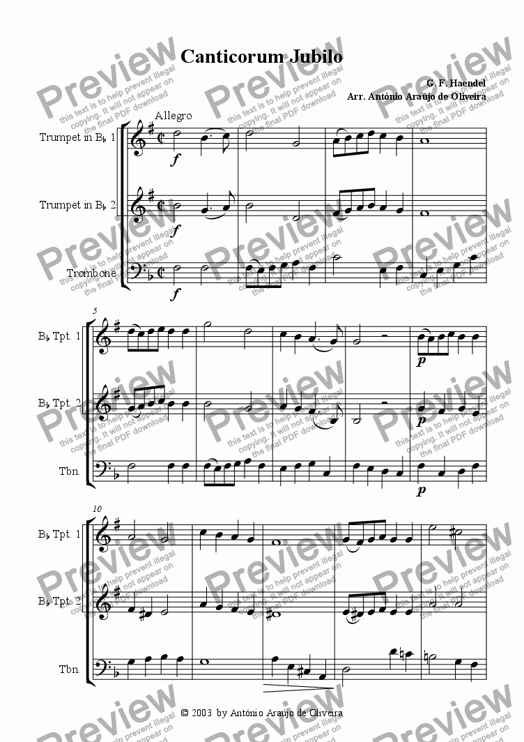 page one of Canticorum Jubilo