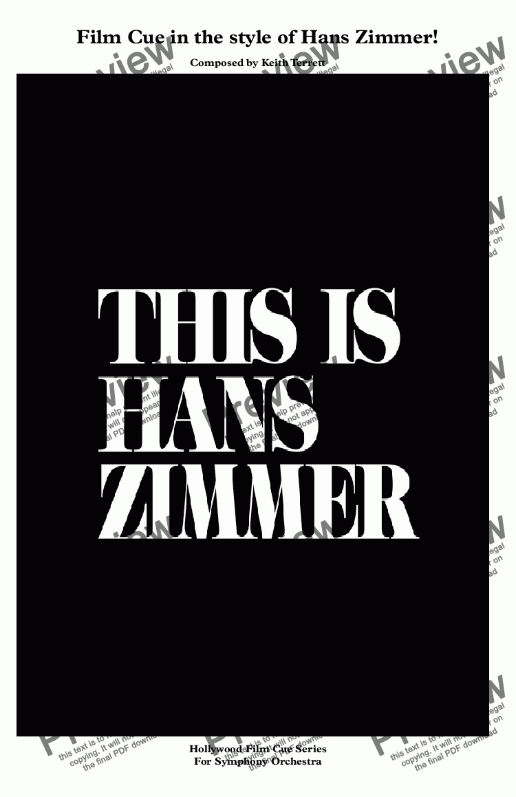 page one of Hans Zimmer(in the style of)  for Symphony Orchestra (Hollywood Film Cue Series)