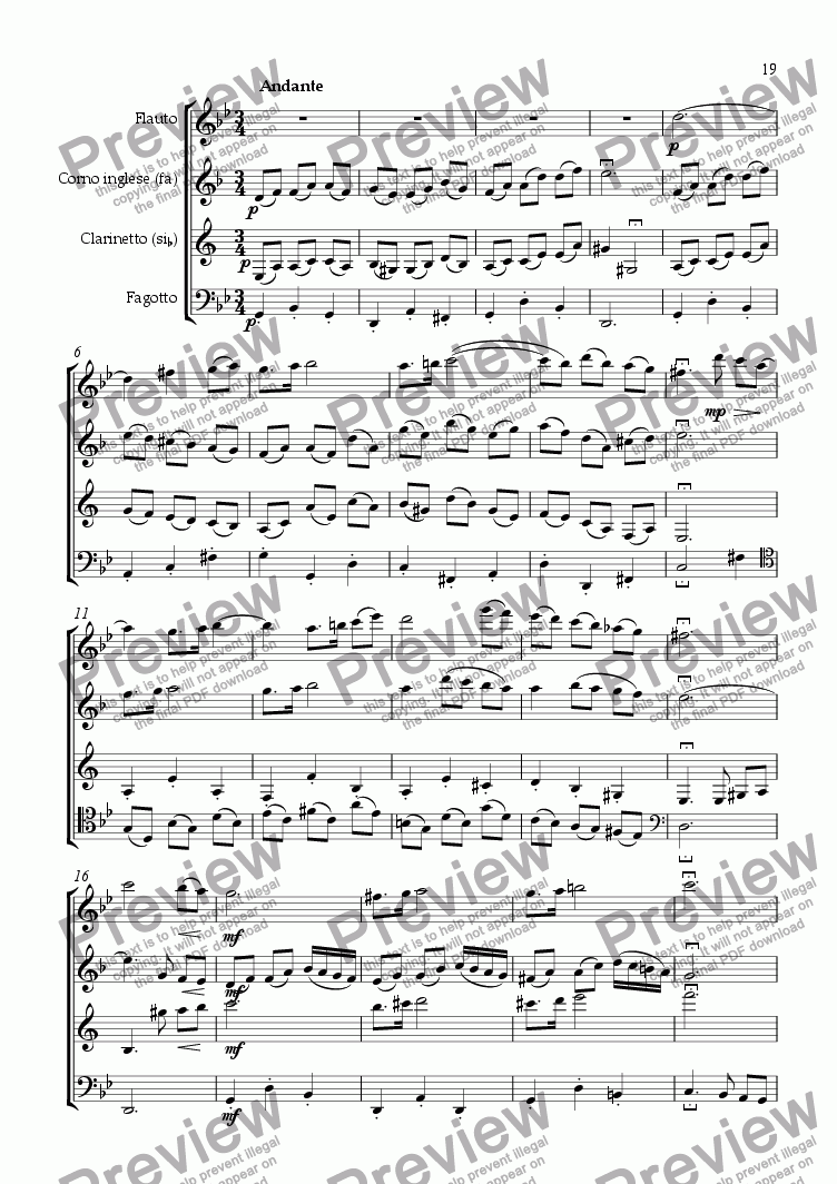 page one of Quartetto I, 3. mov.ASALTTEXT
