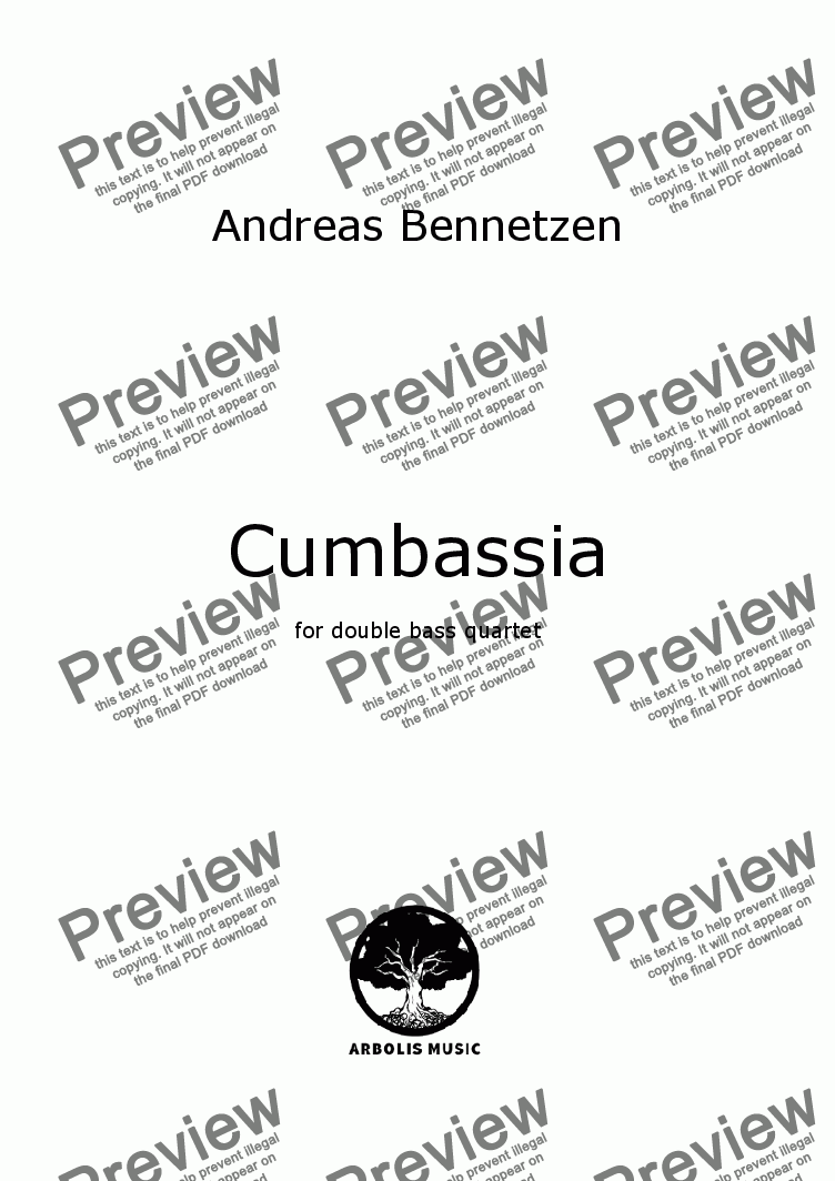 page one of Cumbassia