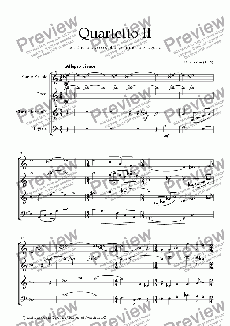 page one of Quartetto II, 1.mov.ASALTTEXT