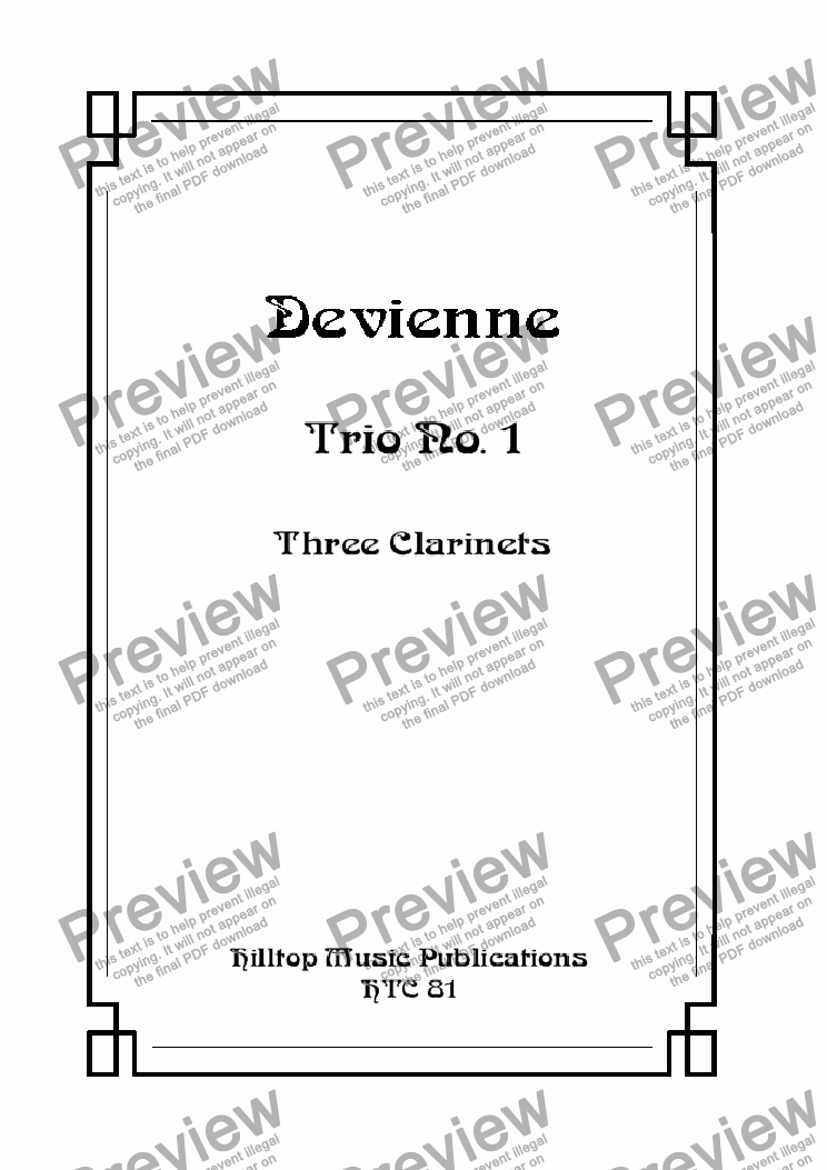 page one of Devienne Trio No. 1
