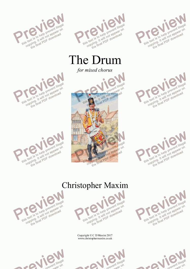 page one of The Drum
