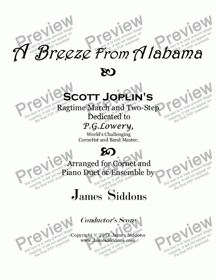 page one of A Breeze from Alabama