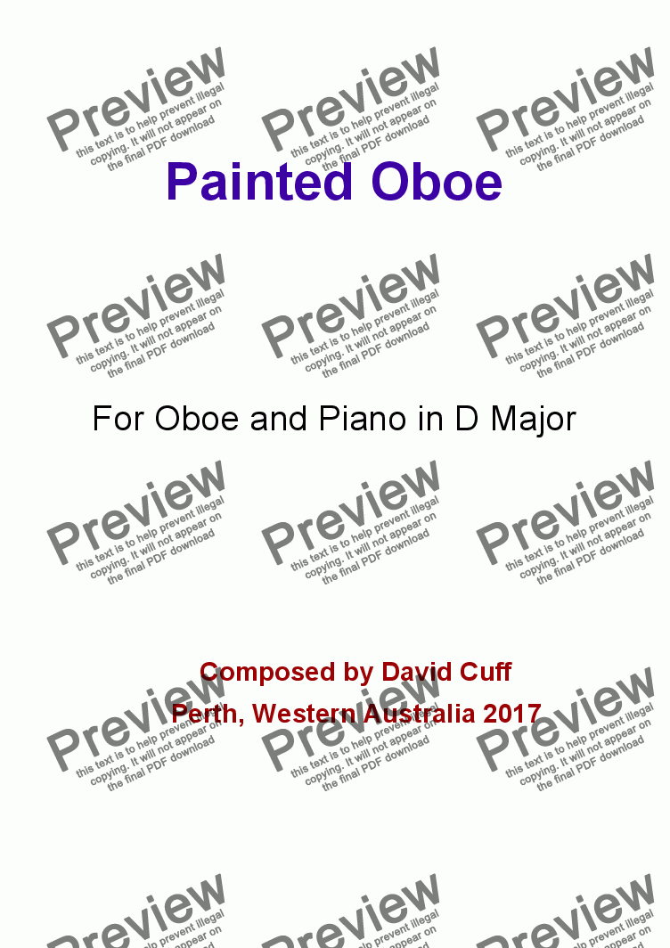 page one of Painted Oboe