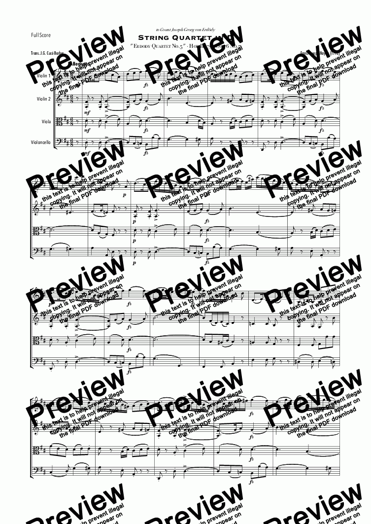 Haydn - String Quartet Op 76 No 5