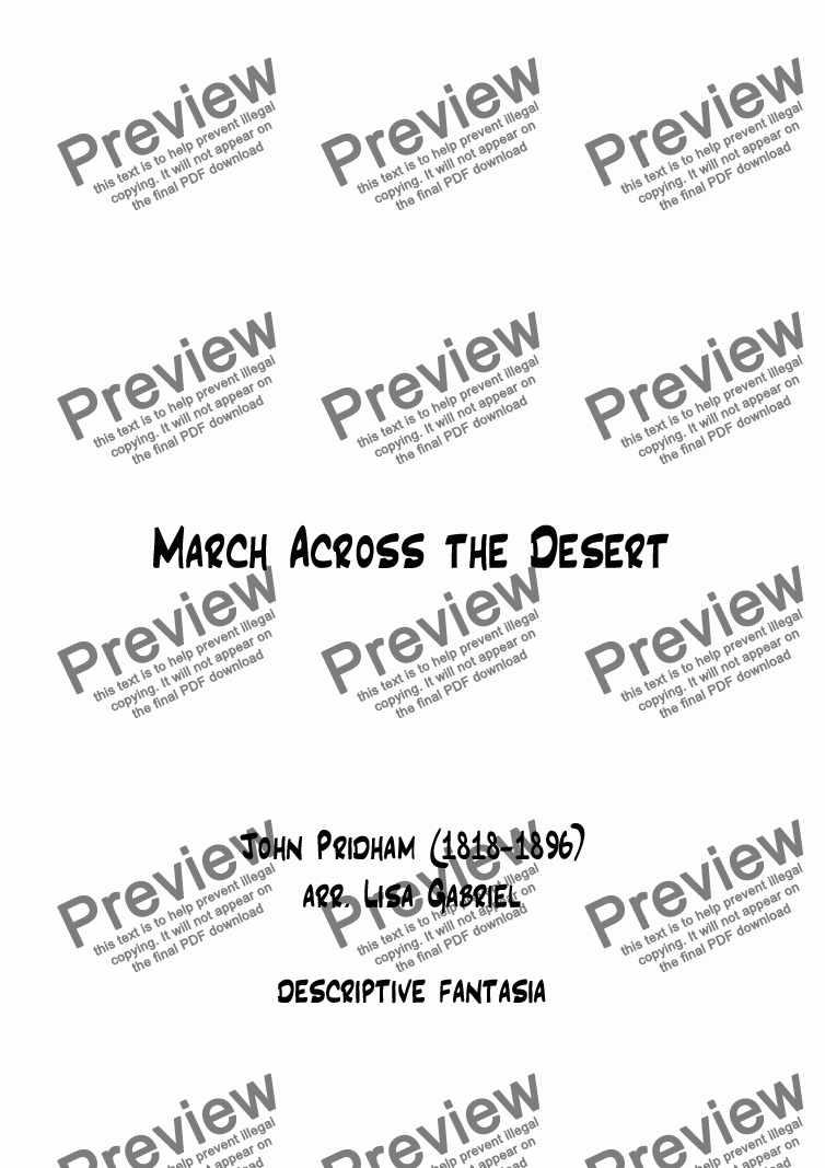 page one of March Across the Desert