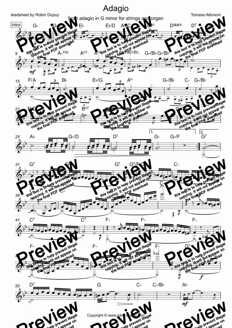 Albinoni - Adagio in G minor -...