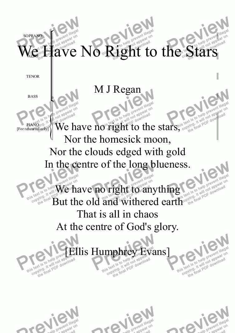 page one of We Have No Right to the Stars