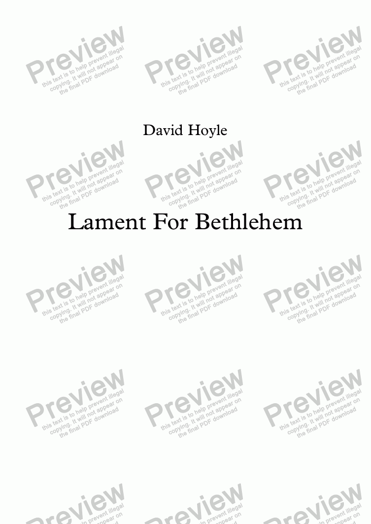 page one of Lament For BethlehemASALTTEXT