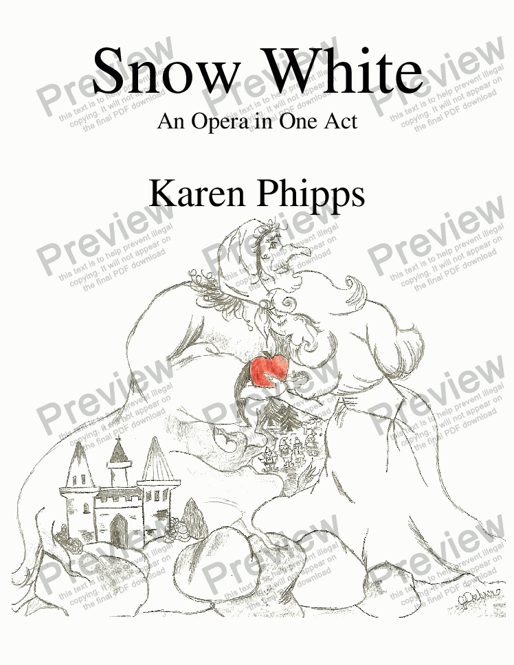page one of Phipps - Snow White: An Opera in One Act