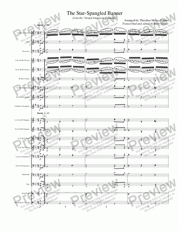 page one of Smith - Star Spangled Banner (arr. Tobani)
