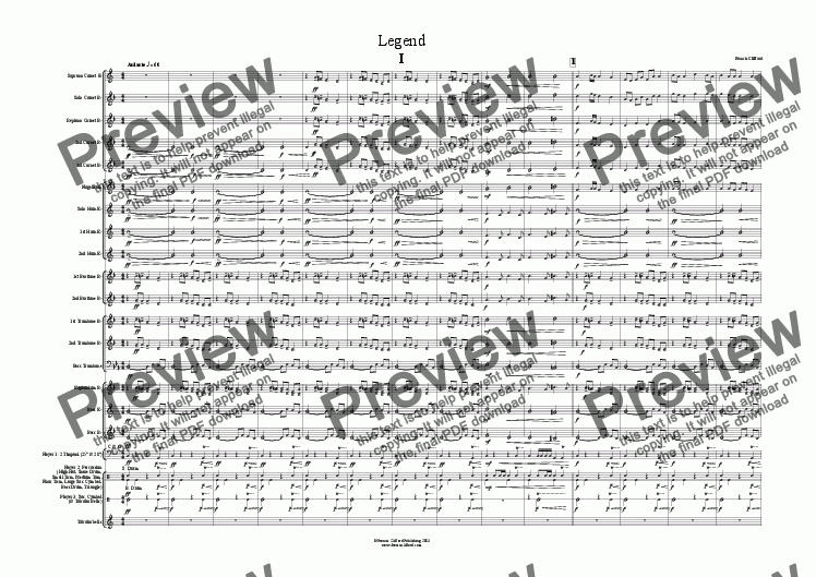 page one of Legend (Complete - Landscape Score)