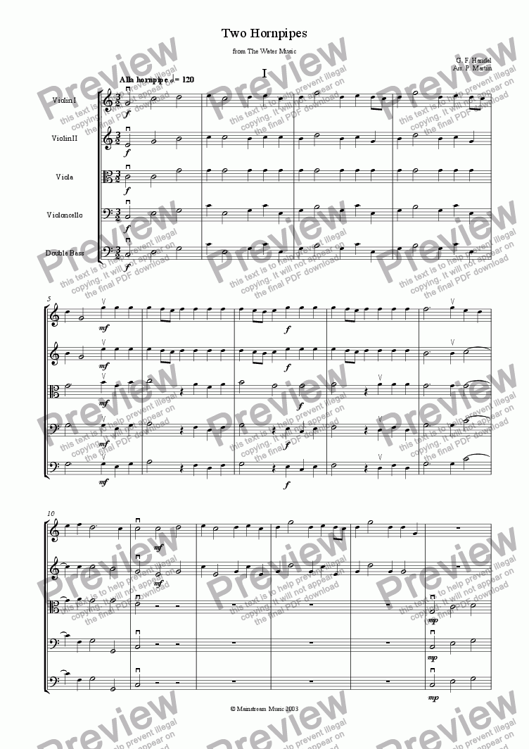 page one of Two Hornpipes