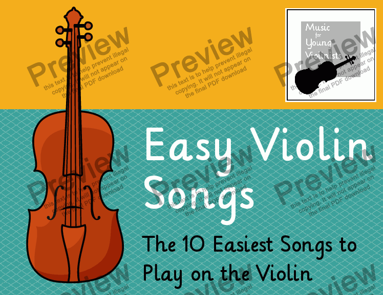 page one of Easy Violin Songs