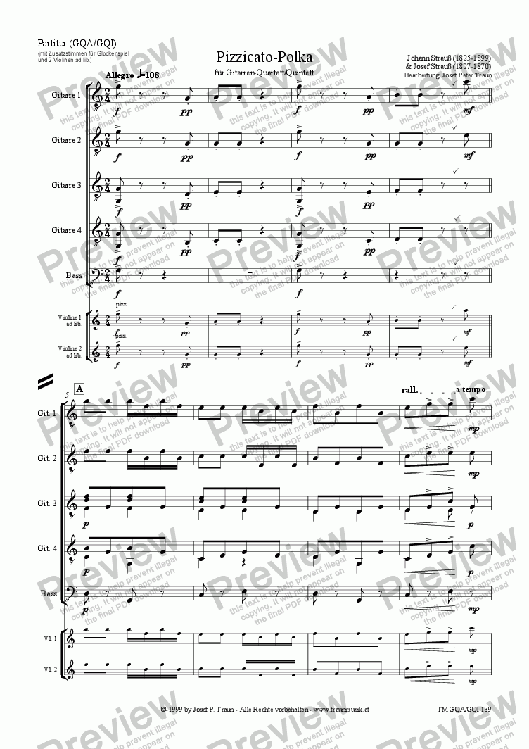 page one of Pizzicato-Polka (GQA-GQI/Score & Parts)ASALTTEXT