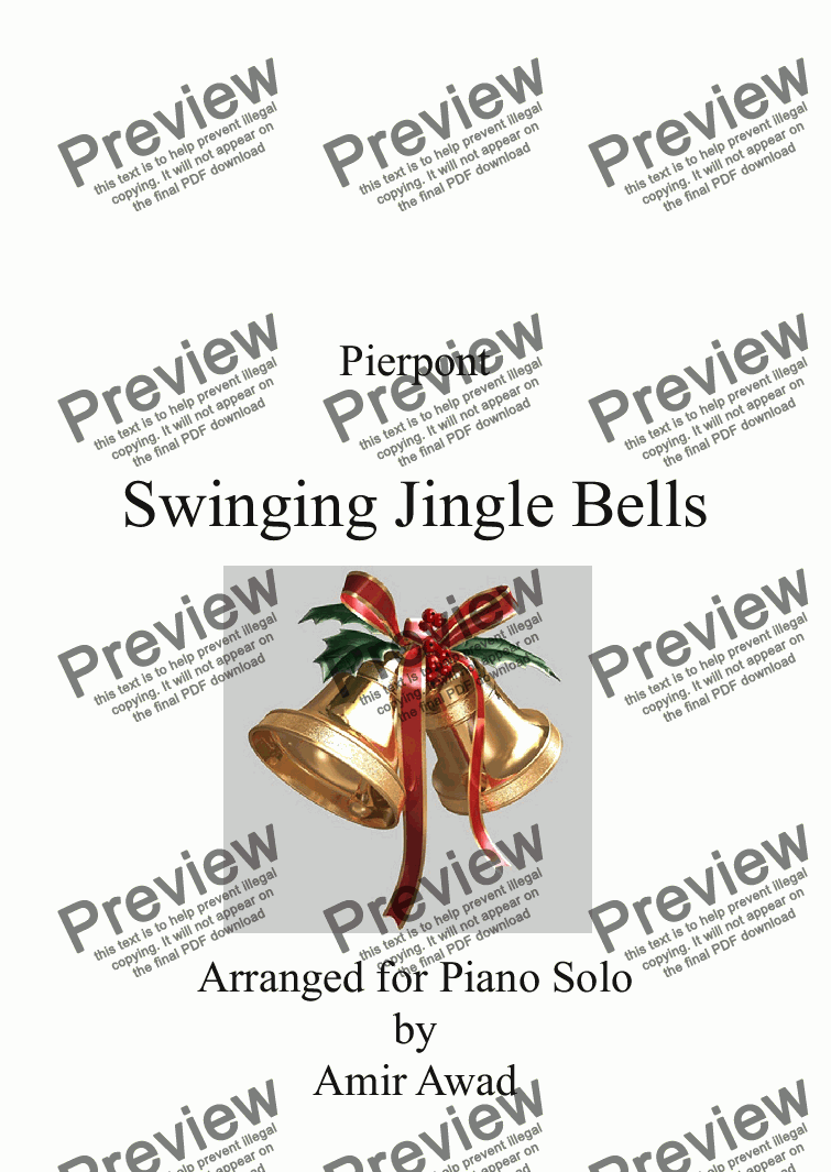 page one of Jingle Bells Swing Pierpont for Piano Solo