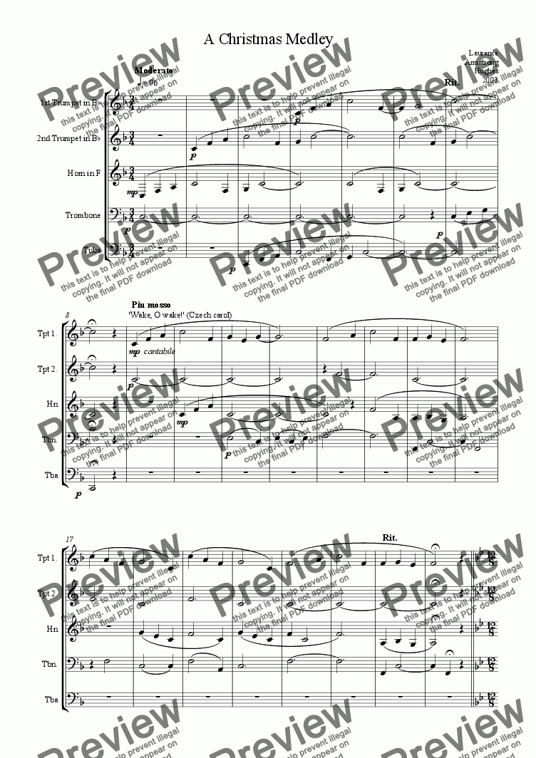 page one of A Christmas Brass Medley
