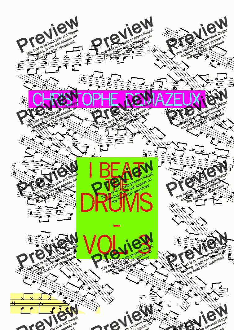 page one of I Beat The Drums - Vol 3