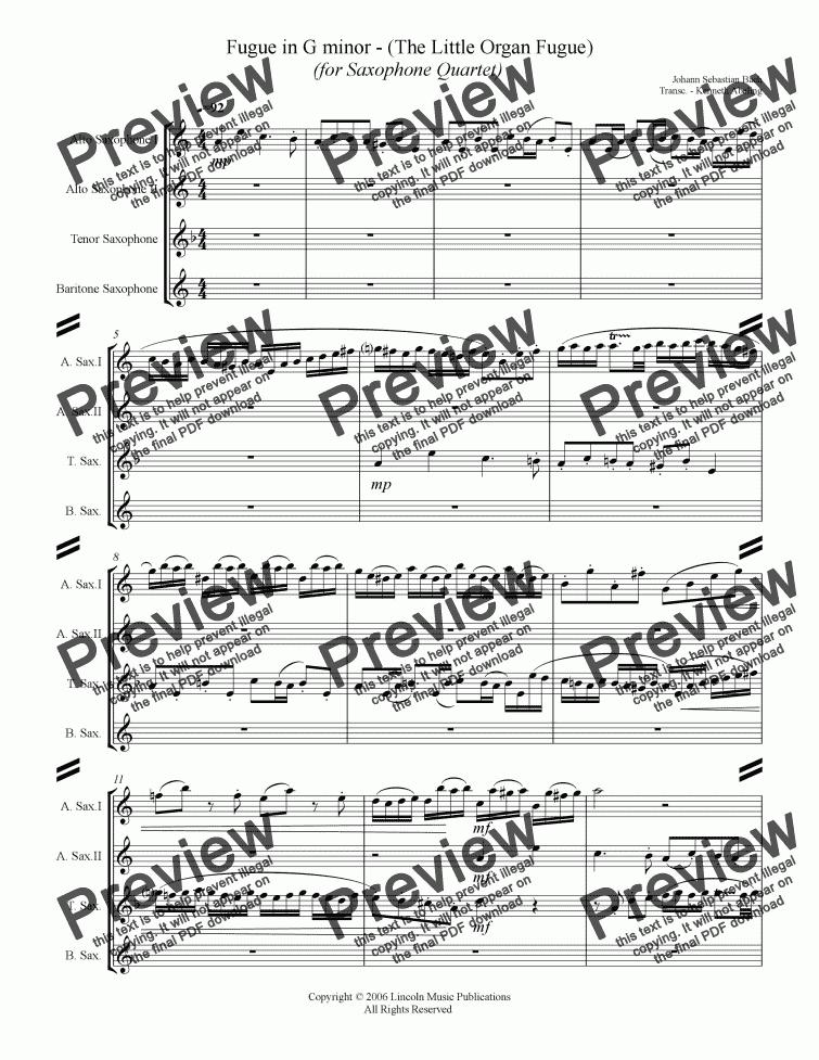 organ fugue in g minor
