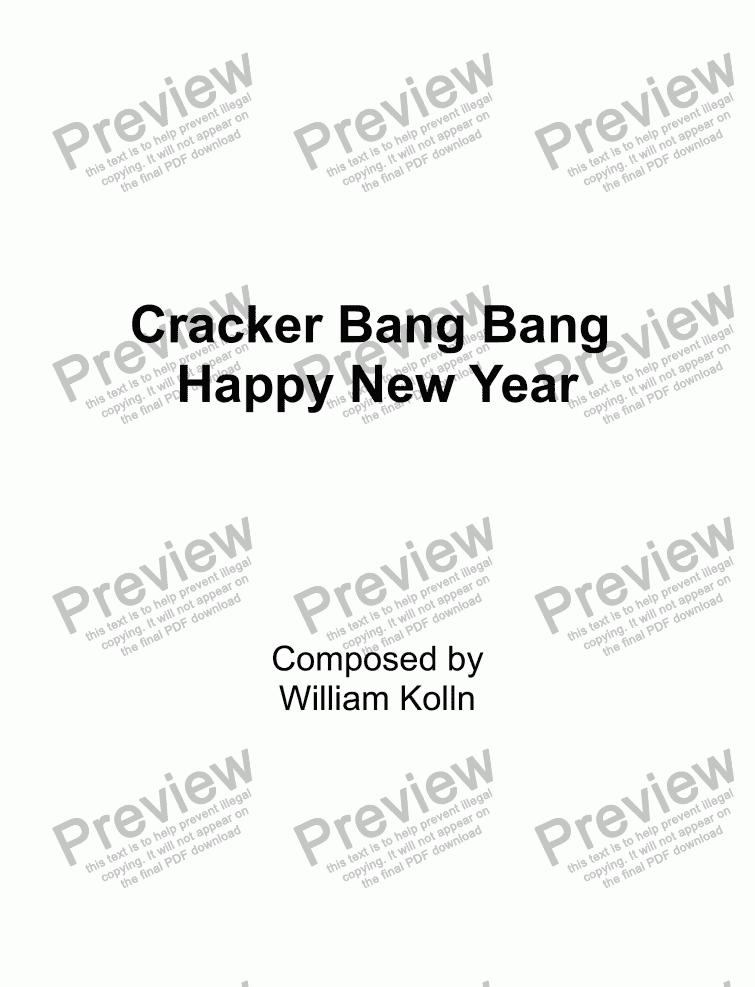 Cracker Bang Bang - Happy New Year - Download Sheet Music PDF file