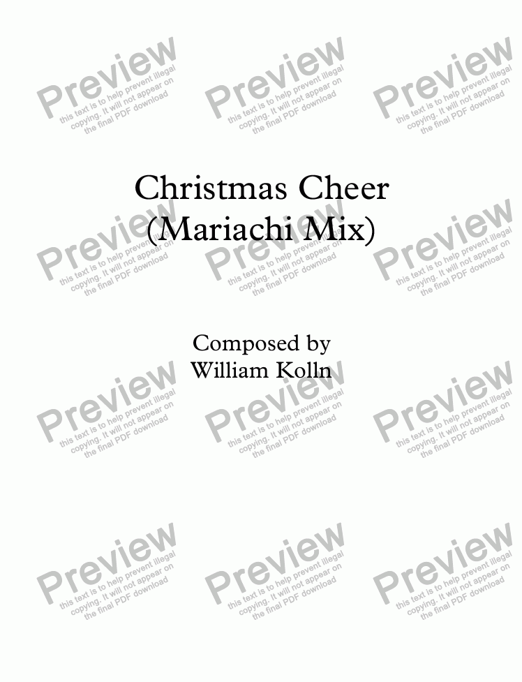 page one of Christmas Cheer (Mariachi Mix)