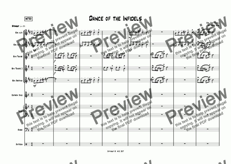 page one of Dance of The Infidels Full Score