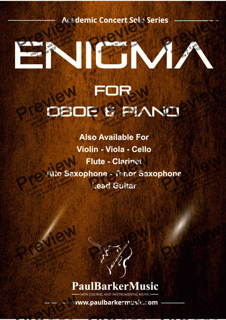 page one of Enigma  (Oboe & Piano)