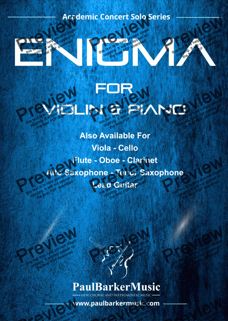 page one of Enigma (Violin & Piano)