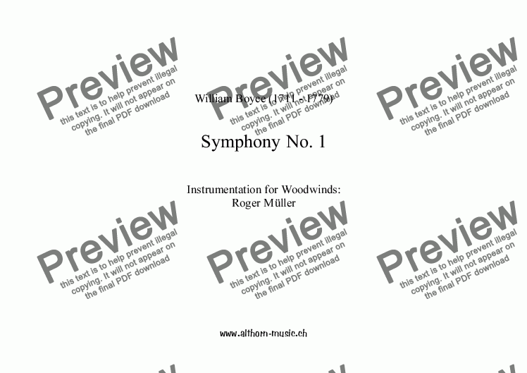 page one of Symphony No 1