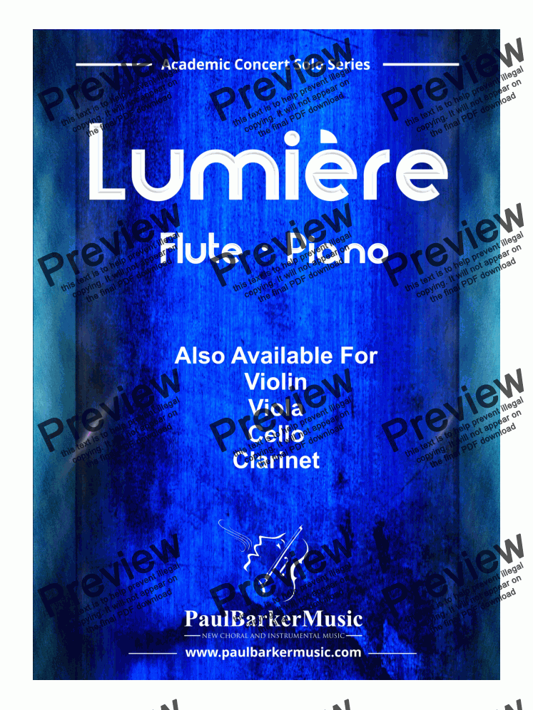 page one of Lumière (Flute & Piano)