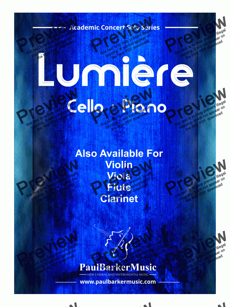 page one of Lumière (Clarinet & Piano)