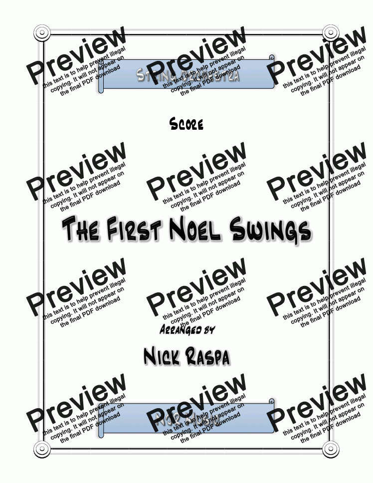 page one of The First Noel Swings - Easy String Orchestra