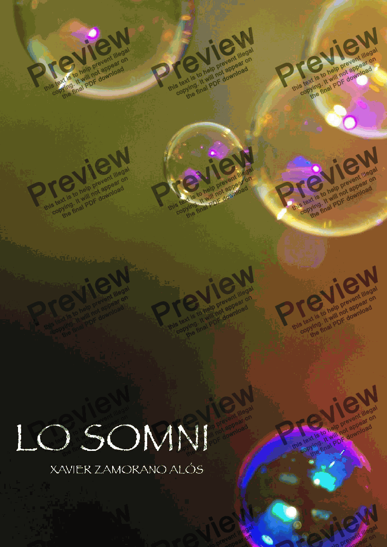 page one of Lo Somni