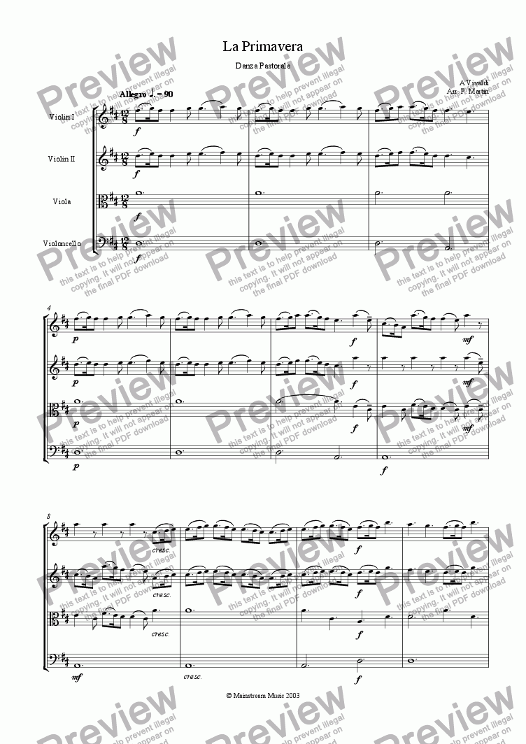 page one of Danza Pastorale