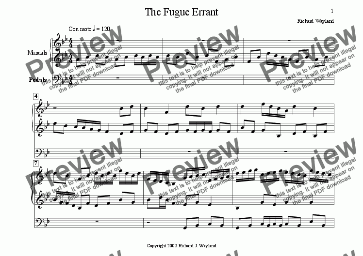 page one of The Fugue Errant