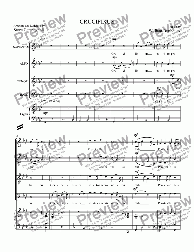 page one of Collab Mass08-CRUCIFIXUS