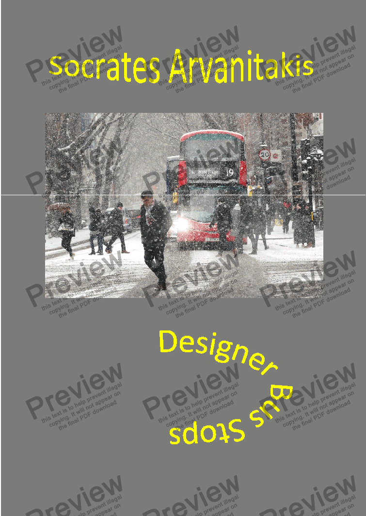 page one of Designer Bus Stops (vocal canzona & fuga)