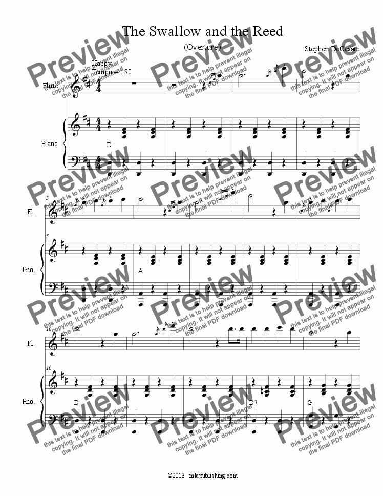 page one of The Happy Prince: the musical (Piano/Vocal Score)