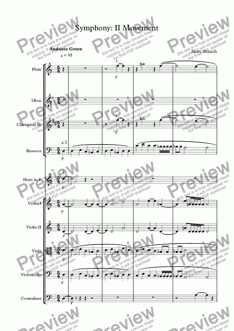 page one of Symphony: 3rd Movement
