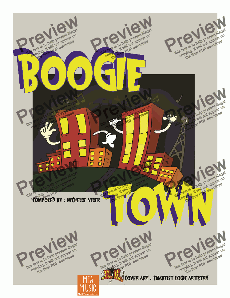 page one of Boogie Town