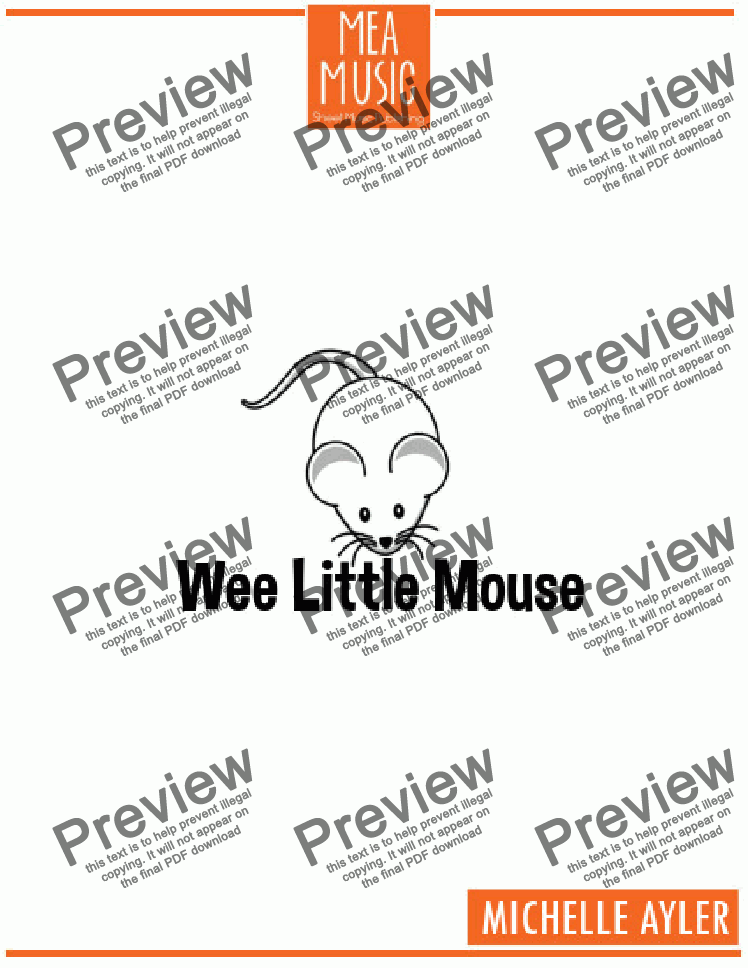 page one of Wee, Little Mouse