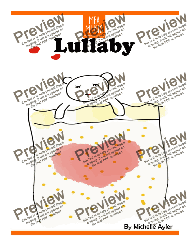 page one of Lullaby