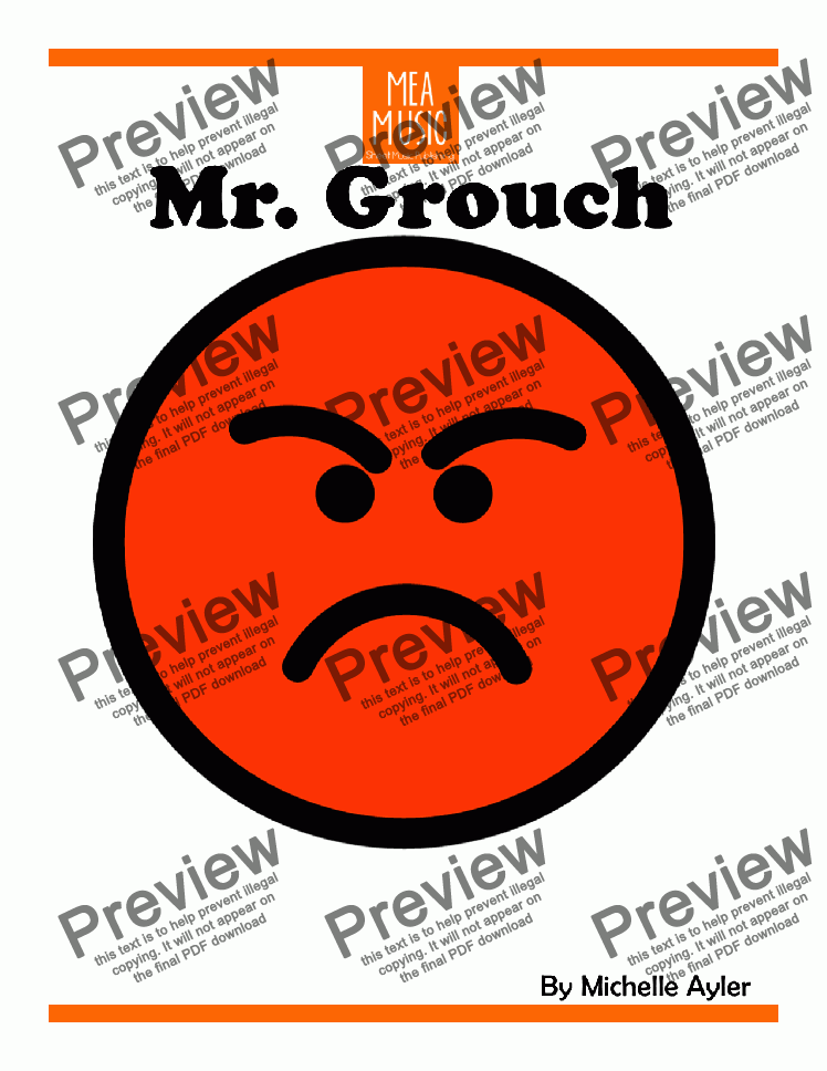 page one of Mister Grouch