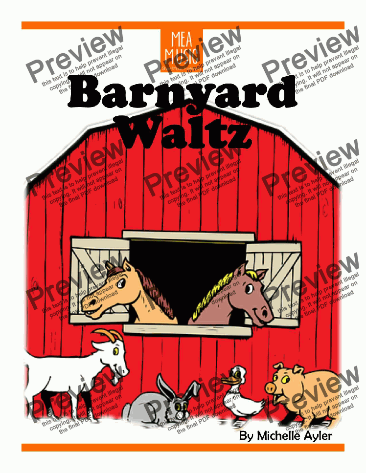 page one of Barnyard Waltz