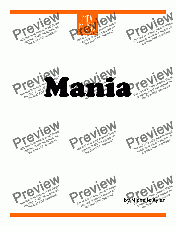 page one of Mania