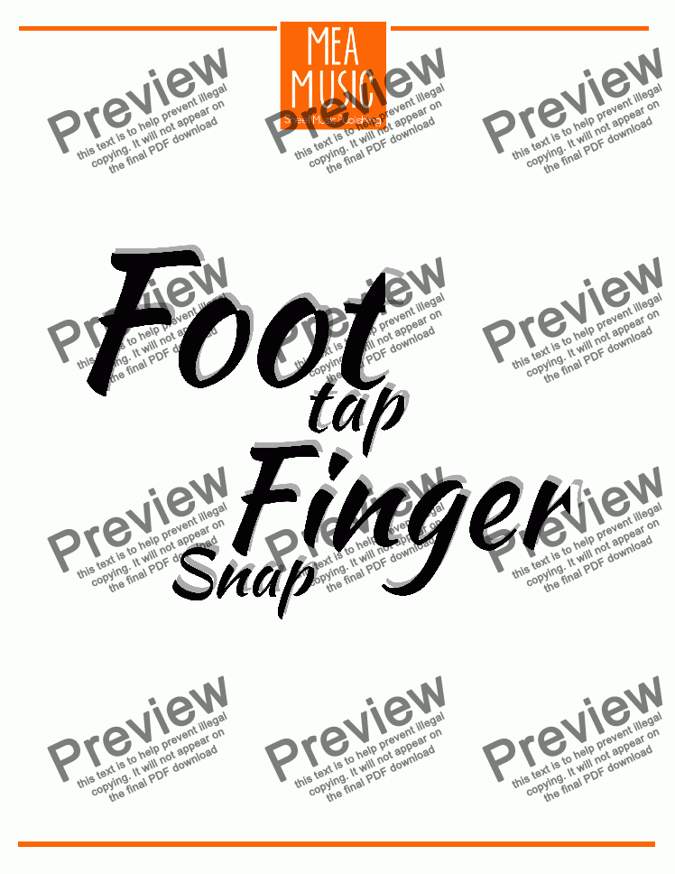 Foot Tap, Finger Snap for Solo instrument (Piano) by Michelle Ayler - Sheet  Music PDF file to download